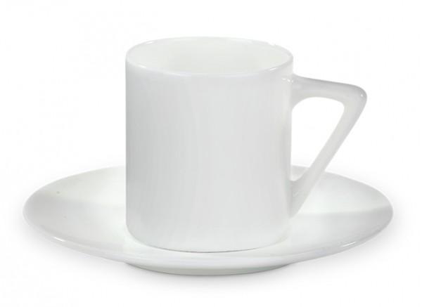 Werbetasse Espressoella in Weiß