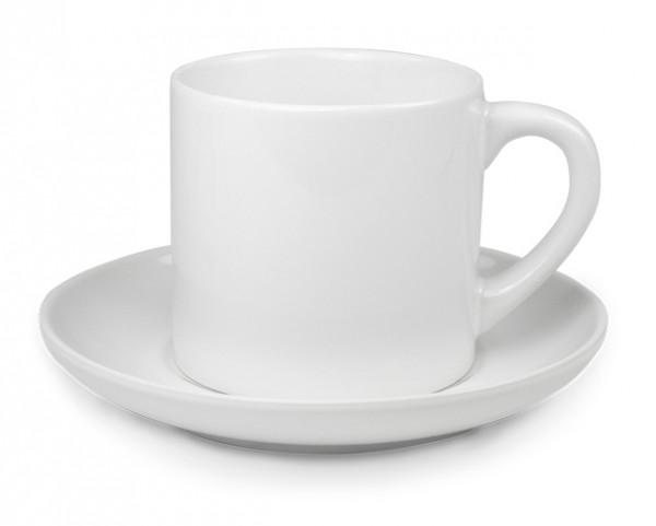 Werbetasse Espressolinchen in Weiß