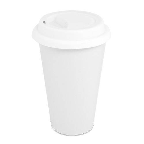 Kaffeebecher Kaffeefluchti in Weiß