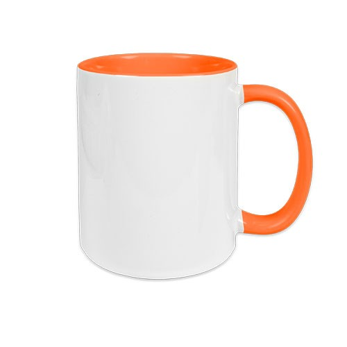 Werbetasse Clementienchen in Orange