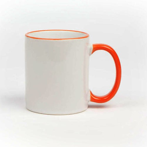 Werbetasse Harmonie in Orange