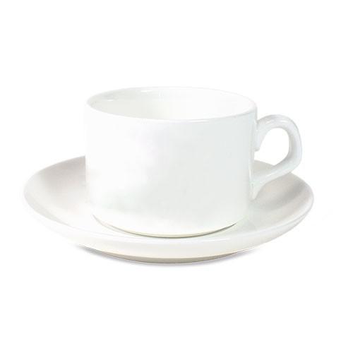 Werbetasse Kaffeeböhnchen in Weiß